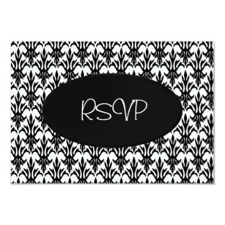 RSVP Card All Events Elegant White Black Floral