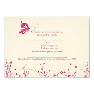 RSVP card - Butterfly Garden 1