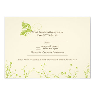 RSVP card - Butterfly Garden 10