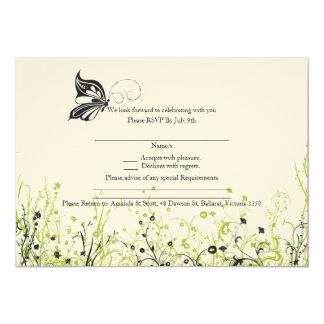 RSVP card - Butterfly Garden 2