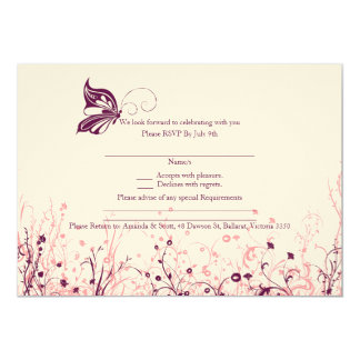 RSVP card - Butterfly Garden 3