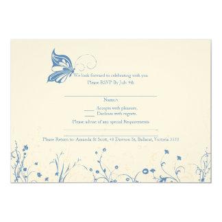 RSVP card - Butterfly Garden 4