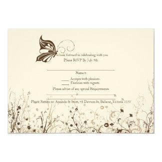 RSVP card - Butterfly Garden 5