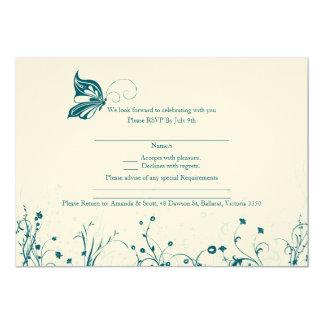 RSVP card - Butterfly Garden 6