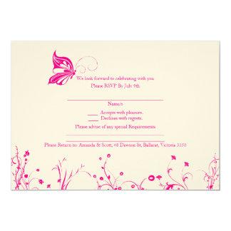 RSVP card - Butterfly Garden 7