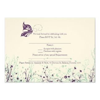 RSVP card - Butterfly Garden 9