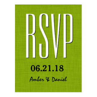 RSVP Card Empire Font Wedding or Any Occasion W16 Postcard