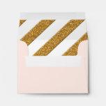 RSVP Card Envelopes Script Forever Love Glitter