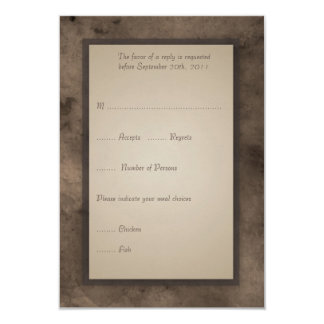 RSVP Card for Steampunk Zeppelin Wedding Set