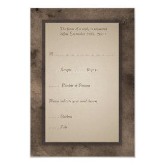 "RSVP Card for Steampunk Zeppelin Wedding Set 3.5"" X 5"" Invitation Card"