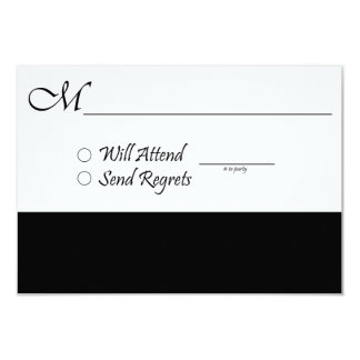 RSVP Card for Wedding and Graduation Invitations