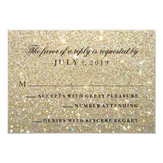 RSVP Card - Gold Glit Fab