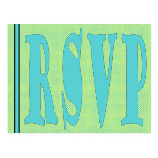 RSVP Card-GreenAqua Postcard