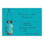 RSVP Card Mason Jar and Fireflies Personalized Invites