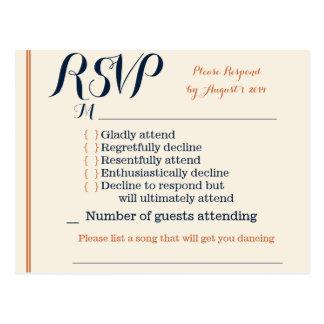 RSVP Card Post Cards