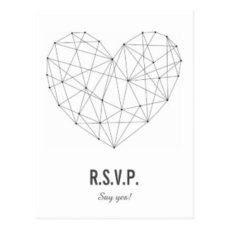 RSVP card   Response   Wedding   Geometric heart