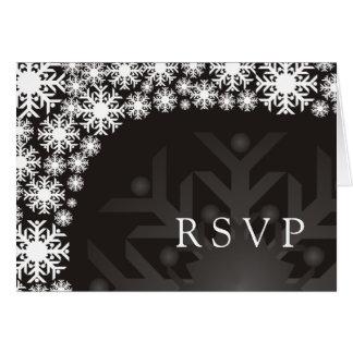 RSVP Card - Snowflake Winter Wedding