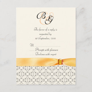 RSVP Card Topaz Wedding Set