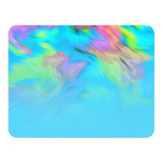RSVP Card Turquoise Blue Lime Pink Tye Dye
