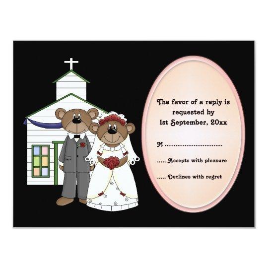 RSVP Card Wedding Bears Collection