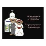 "RSVP Card Wedding Bears Collection 4.25"" X 5.5"" Invitation Card"