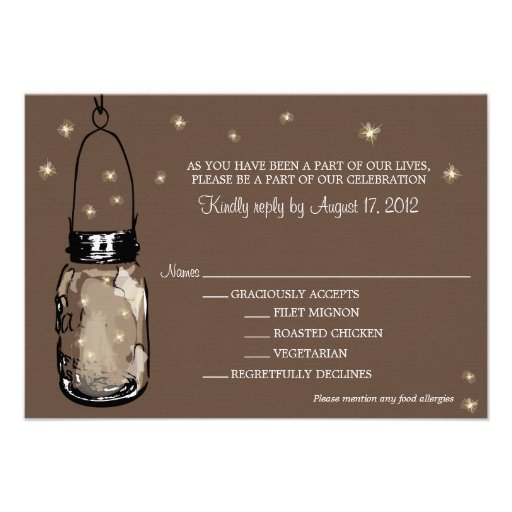 RSVP Card Whimsy Fireflies
