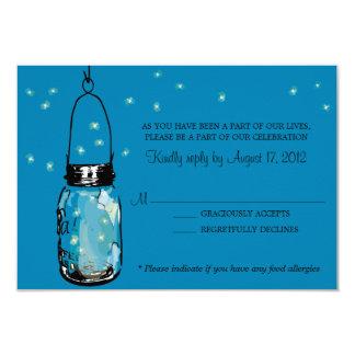 RSVP Card Whimsy Fireflies and Mason Jar Invites