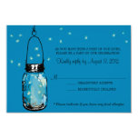 RSVP Card Whimsy Fireflies and Mason Jar Invites