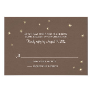 RSVP Card Whimsy Fireflies Invitations