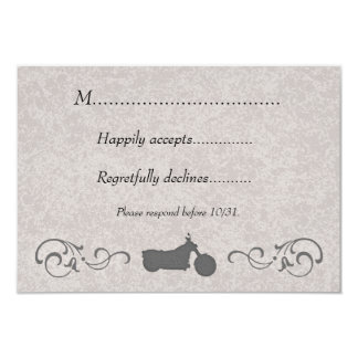 RSVP Card with Faux Embossed Motorcycle