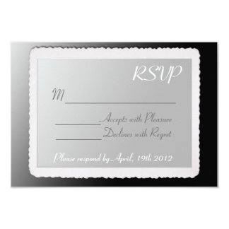 "RSVP card with vintage border. 3.5"" X 5"" Invitation Card"
