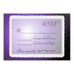 RSVP card with vintage border. Invitations