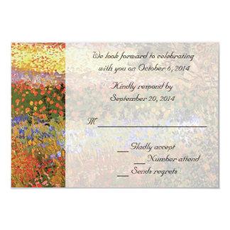 RSVP cards. Flowering Garden, Van Gogh. Custom Invite