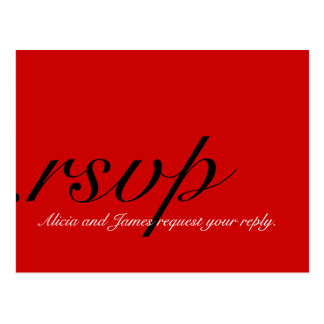 RSVP Cards for Christmas Weddings Red Post Card