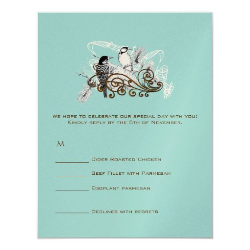 "RSVP Cards-Require the 5 x 7 size Inivitations 4.25"" X 5.5"" Invitation Card"
