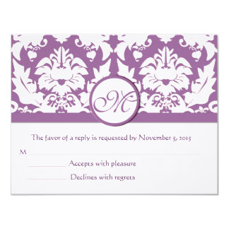 RSVP Cards-Require the 5 x 7 size Inivitations 4.25x5.5 Paper Invitation Card