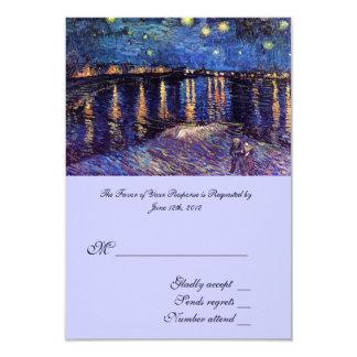"""RSVP, casando la tarjeta de la aceptación, noche Invitación 3.5"""" X 5"""""""