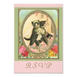 RSVP cat bride and groom 3.5x5 Paper Invitation Card