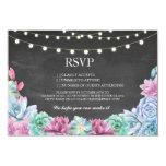 RSVP Chalk Wedding Rustic Succulents Floral Cards