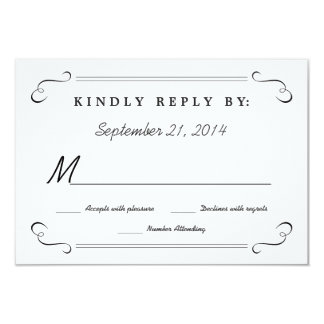 RSVP Chalkboard Hearts Monogram Reply Card