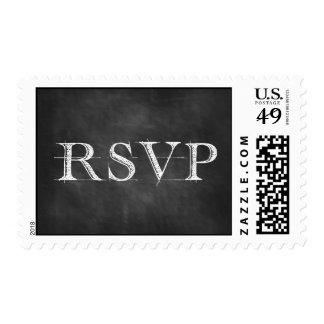 RSVP Chalkboard Text Postage