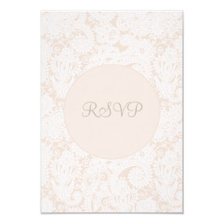 RSVP Champagne Ivory Lace Wedding Card