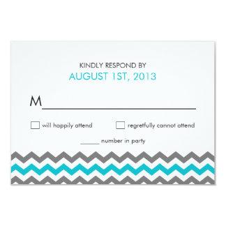 RSVP Chevron Zigzag Wedding Modern 3.5x5 Paper Invitation Card