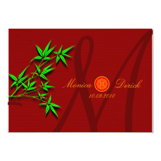 RSVP Chinese wedding invitation card (bamboo)
