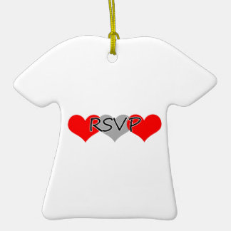 Rsvp christmas tree ornament for Engagement christmas tree ornaments