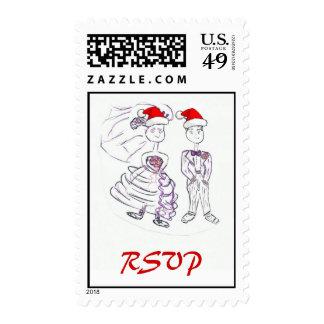 RSVP/Christmas Wedding Postage