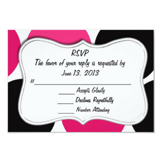 RSVP Classy Card Pink and Black Polka Dot