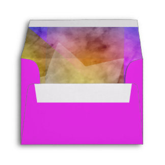 RSVP Color Block Watercolor Design Envelope