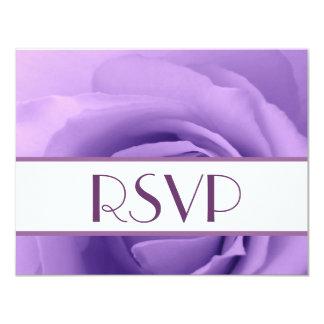 """RSVP color de rosa púrpura elegante que casa la Invitación 4.25"""" X 5.5"""""""