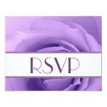 RSVP color de rosa púrpura elegante que casa la Invitacion Personal